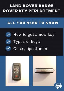 Land Rover Range Rover key replacement - All you need to know