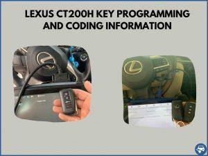 Automotive locksmith programming a CT200h key on-site