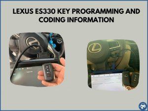Automotive locksmith programming a Lexus ES330 key on-site