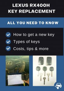 Lexus RX400h key replacement - All you need to know