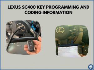 Automotive locksmith programming a Lexus SC400 key on-site