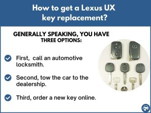 How to get a Lexus UX replacement key