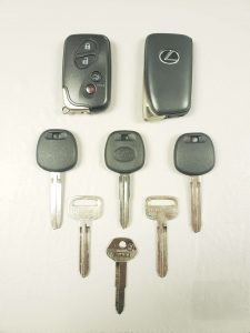 Lexus replacement keys - Key fobs, transponder and non-transponders