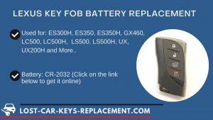 Lexus key fob battery replacement tutorial video
