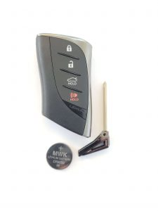 Lexus ES350 remote key fob battery replacement information