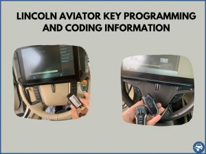 Automotive locksmith programming a Lincoln Aviator key on-site