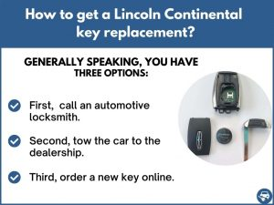 How to get a Lincoln Continental replacement key