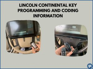 Automotive locksmith programming a Lincoln Continental key on-site