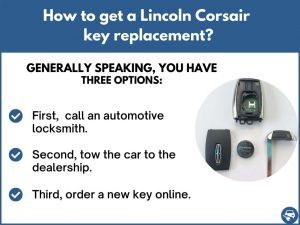 How to get a Lincoln Corsair replacement key