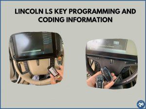 Automotive locksmith programming a Lincoln LS key on-site
