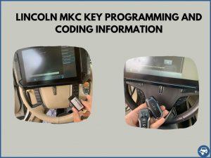 Automotive locksmith programming a Lincoln MKC key on-site