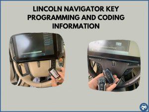 Automotive locksmith programming a Lincoln Navigator key on-site