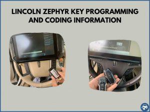 Automotive locksmith programming a Lincoln Zephyr key on-site
