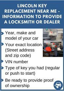 Lincoln key replacement near me - Relevant information