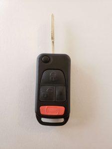 Mercedes transponder key replacement - Flip key