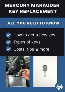 Mercury Marauder key replacement - All you need to know