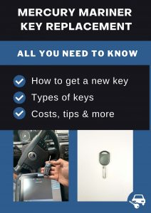 Mercury Mariner key replacement - All you need to know