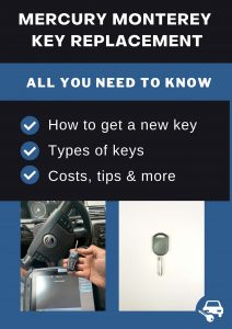 Mercury Monterey key replacement - All you need to know