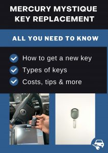 Mercury Mystique key replacement - All you need to know