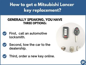 How to get a Mitsubishi Lancer replacement key
