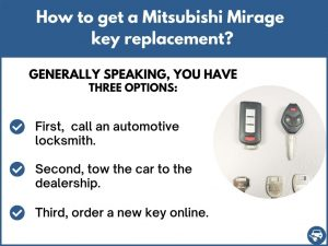 How to get a Mitsubishi Mirage replacement key