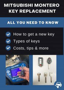 Mitsubishi Montero key replacement - All you need to know