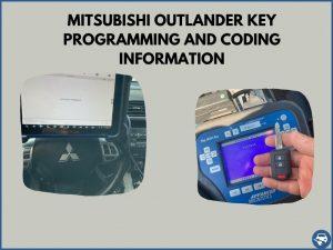 Automotive locksmith programming a Mitsubishi Outlander key on-site
