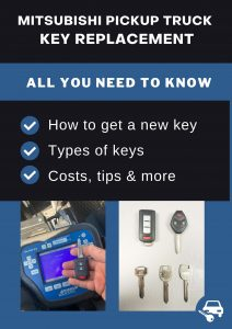 Mitsubishi Pickup Truck key replacement - All you need to know