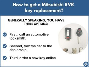How to get a Mitsubishi RVR replacement key