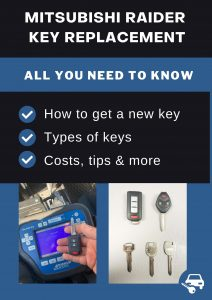 Mitsubishi Raider key replacement - All you need to know