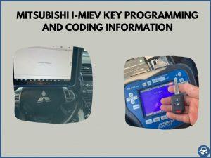Automotive locksmith programming a Mitsubishi i-MiEV key on-site