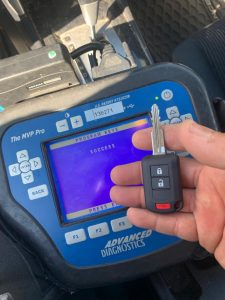 Locksmith coding a new Mitsubishi transponder key