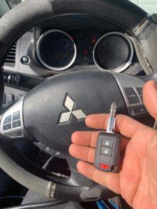 2018, 2019, 2020 Mitsubishi Eclipse Cross transponder car key replacement (OUCJ166N)