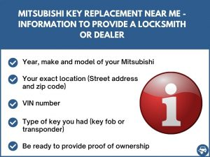 Mitsubishi key replacement near me - Relevant information
