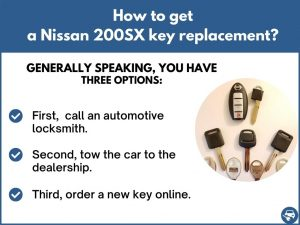 How to get a Nissan 200SX replacement key