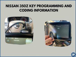 Automotive locksmith programming a Nissan 350Z key on-site