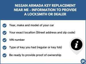 Nissan Armada key replacement service near your location - Tips