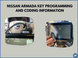 Automotive locksmith programming a Nissan Armada key on-site