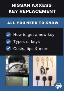 Nissan Axxess key replacement - All you need to know