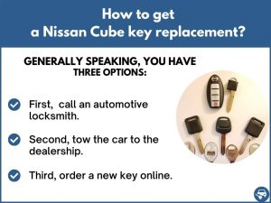 How to get a Nissan Cube replacement key