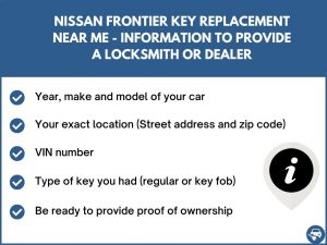 Nissan Frontier key replacement service near your location - Tips