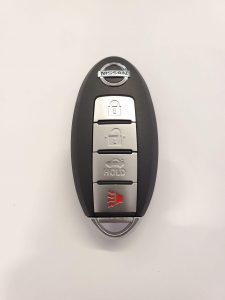 Nissan Rogue remote key fob battery replacement information (4 or 5 buttons)