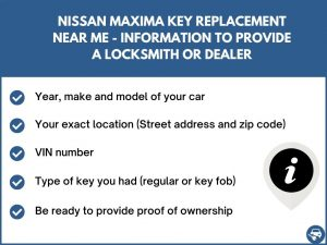 Nissan Maxima key replacement service near your location - Tips