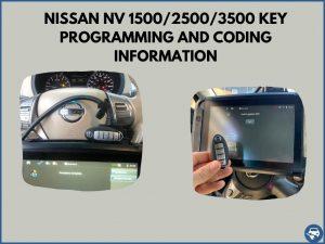 Automotive locksmith programming a Nissan NV 1500/2500/3500 key on-site