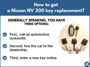 How to get a Nissan NV 200 replacement key
