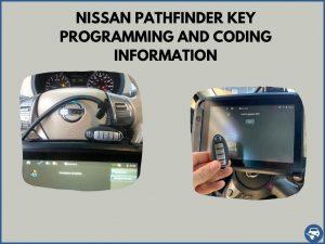 Automotive locksmith programming a Nissan Pathfinder key on-site