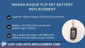 Nissan key battery replacement tutorial video