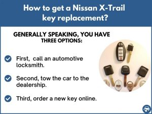 How to get a Nissan X-Trail replacement key