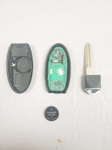 Nissan key fob replacement, battery and key