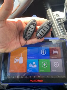 Spare Nissan key fobs programmed